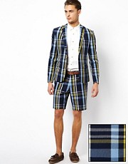 ASOS Slim fit Blazer and Shorts in Check