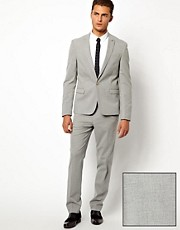 ASOS Skinny Fit Suit in Mid Grey