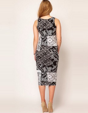 Image 2 of ASOS CURVE Midi Bodycon Dress In Bandana Print