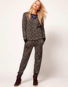 Image 4 of ASOS Jumper In Metallic Leopard