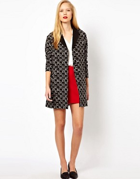 Image 4 of ASOS Square Mono Belted Mac