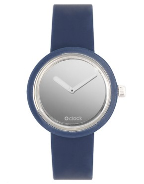Image 1 ofO&#39;Clock Analogue Mirror Silicone Blue Watch