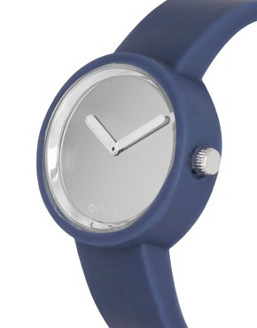 Image 3 ofO&#39;Clock Analogue Mirror Silicone Blue Watch