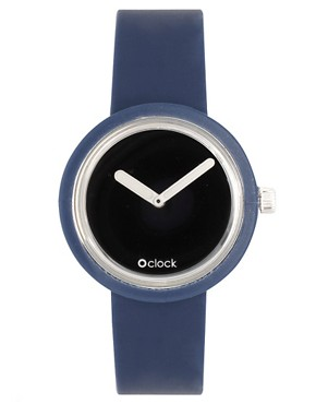 Image 4 ofO&#39;Clock Analogue Mirror Silicone Blue Watch