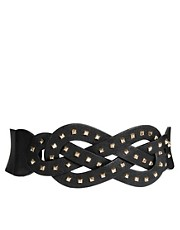 Mango Stud Pretzel Stretch Belt