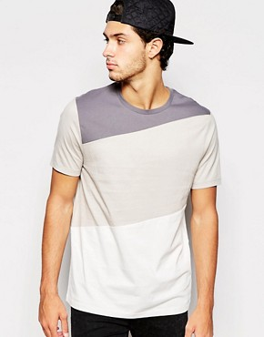 ASOS T-Shirt With Contrast Panels In Relaxed Skater Fit