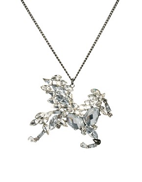 Image 1 ofRiver Island Pegasus Pendant Necklace
