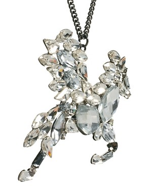 Image 4 ofRiver Island Pegasus Pendant Necklace