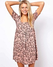 ASOS Smock Dress In Paisley Print