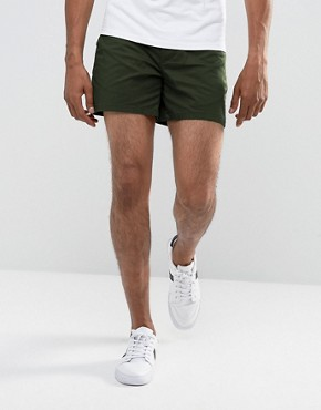 ASOS Stretch Slim Chino Shorts in Dark Green