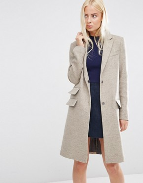 ASOS Ultimate Slim Coat With Pocket Detail