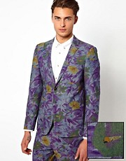 ASOS Slim Fit Blazer in Tropical Print