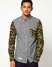 DRMTM Shirt With Camo Sleeves