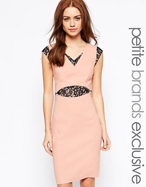 Paper Dolls Petite Lace Detail Pencil Dress