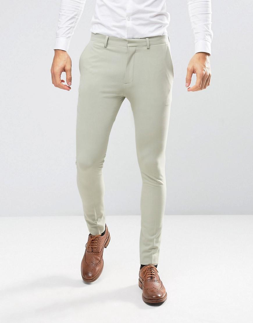 Супероблегающие брюки ASOS - Зеленый ASOS DESIGN
