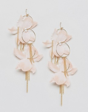 ASOS Fabric Flower Hoop Earrings