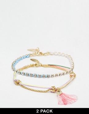 Orelia Ombre Tassel And Chain Bracelet