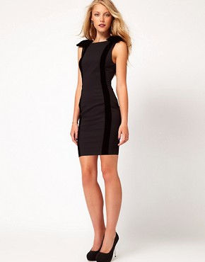Image 4 of ASOS PETITE Exclusive Pencil Dress With Velvet Bows