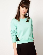 Cheap Monday Sweatshirt With Cut Out Waistband