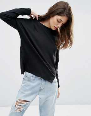 ASOS Long Sleeve Top With Side Splits