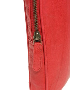 Image 2 ofASOS Leather Bright Laptop Case