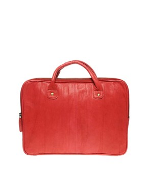 Image 1 ofASOS Leather Bright Laptop Case