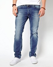 Diesel - Darron 811E - Jeans slim a lavaggio chiaro