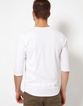 Image 2 ofASOS 3/4 Sleeve T-Shirt With Deep Scoop Neck