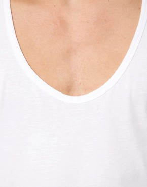 Image 3 ofASOS 3/4 Sleeve T-Shirt With Deep Scoop Neck