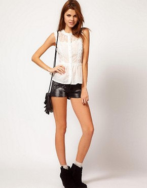 Image 1 ofLipsy Embellished Denim Short
