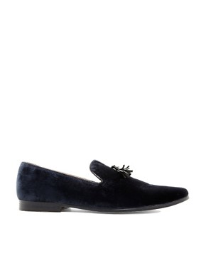 Image 4 ofASOS Velvet Tassel Loafer With Leather Sole