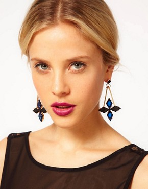 Image 2 ofASOS Midnight Spike Drop Earrings