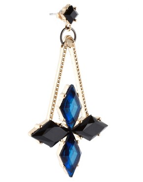 Image 3 ofASOS Midnight Spike Drop Earrings