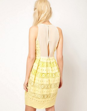 Image 2 of ASOS Lantern Dress In Lace