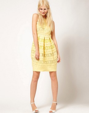 Image 4 of ASOS Lantern Dress In Lace