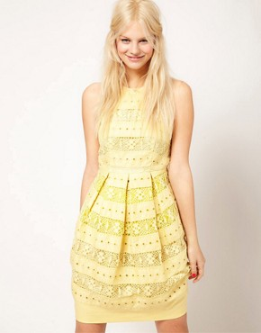 Image 1 of ASOS Lantern Dress In Lace