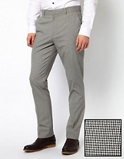 ASOS Slim Fit Smart Pants in Dogstooth