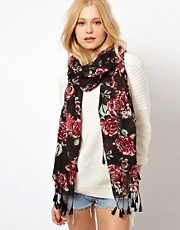 River Island Roadtrip Rose Tassel Scarf
