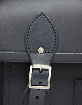 Image 4 ofCambridge Satchel Company Navy Matt Leather 15&quot; Batchel