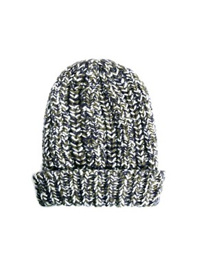 Image 4 ofASOS Chunky Mixed Knit Boyfriend Beanie