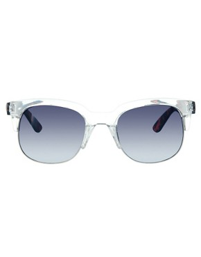 Bild 2 von ASOS  Clubmaster  Sonnenbrille mit transparenter Fassung und Bgeln in Schildpatt-Optik
