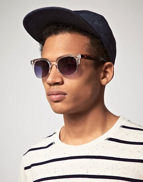 Bild 3 von ASOS  Clubmaster  Sonnenbrille mit transparenter Fassung und Bgeln in Schildpatt-Optik
