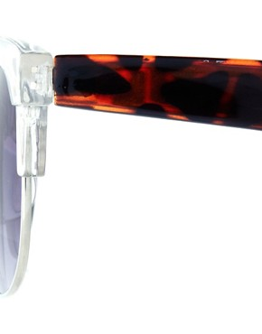 Bild 4 von ASOS  Clubmaster  Sonnenbrille mit transparenter Fassung und Bgeln in Schildpatt-Optik