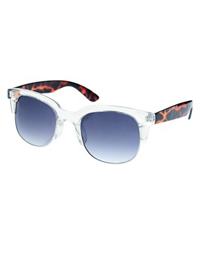 Bild 1 von ASOS  Clubmaster  Sonnenbrille mit transparenter Fassung und Bgeln in Schildpatt-Optik
