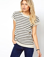 ASOS Sweatshirt in Textured Stripe