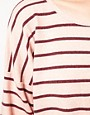Image 3 ofDansk Stripe Oversized Square Sweatshirt