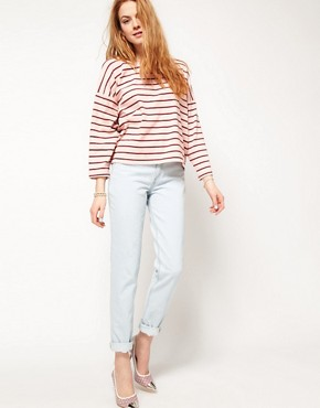Image 4 ofDansk Stripe Oversized Square Sweatshirt