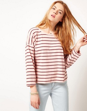 Image 1 ofDansk Stripe Oversized Square Sweatshirt