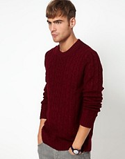 River Island  Pullover mit Zopfmuster