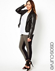 ASOS CURVE Skinny Trousers In Colourblock